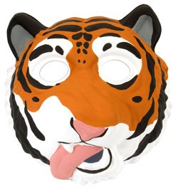 Katze Für Wilde Erwachsene Kostüm - Wild Republic Europe ApS 14279 - Grinimals Maske für Kinder und Erwachsene, Tiger