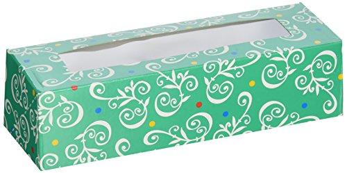 Metallic Scroll (Rectangular Treat Boxes 3/Pkg-Green Primary Scroll 3/Pkg)
