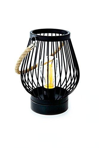Deco Led (Heitmann Deco LED Lampe im Industrie-Design - Edison Style- Metall - schwarz - oval - zum aufhängen - batteriebetrieben - indoor)