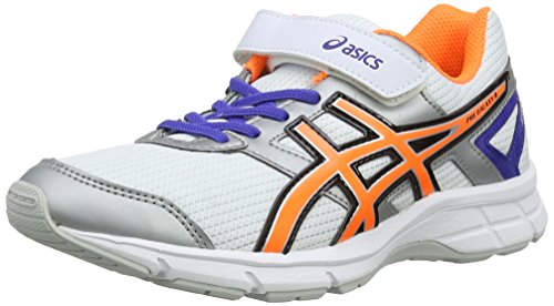 ASICS Pre Galaxy 8 PS - Zapatillas de deporte unisex para niños, Blanco (White / Flash Orange / Deep Blue...