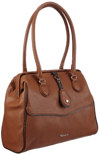 Tamaris PENELOPE Doctor's Bag A12902443, Damen Henkeltaschen 36x28x13 cm (B x H x T) Braun (nut/mocca 443)