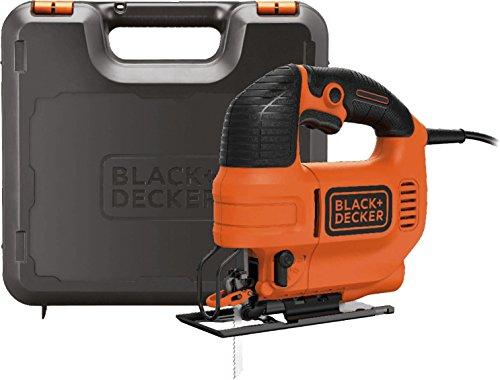 Black+Decker Elektro Stichsäge 520W KS701PEK / 4-stufige Pendelhubstichsäge mit Koffer für Holz, Metall & Kunststoff / Stichsäge mit Gehrung & werkzeuglosen Sägeblattwechsel