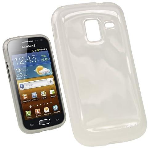 igadgitz Étui Coque Clair Brilliant TPU Gel pour Samsung Galaxy Ace 2 I8160 Android Smartphone + Protecteur d'écran