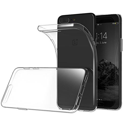 Oneplus 5 Hülle, Lanseed Kristallklare Silikon Slim Fit One Plus 5 Schutzhülle, Schützende Kratzfeste Flexible Handyhülle Bumper Cover für das Neue 2017 Oneplus 5 Handy, Transparent