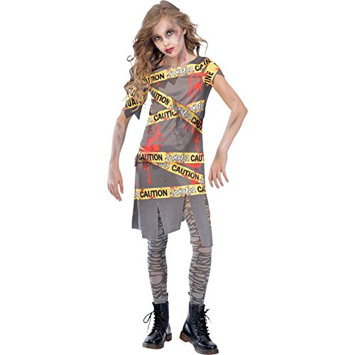 e - Halloween Zombie Kostüm Kinder Mädchen ()