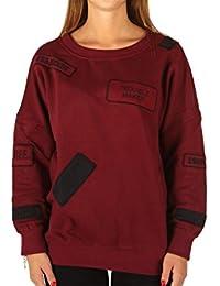 Elevenparis, femme, Tribal W Tawny Port, coton, sweat-shirt, rouge