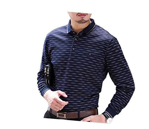 Banded Collar Jacket (CuteRose Mens Turn Down Collar Plaid Long Sleeve Classic-Fit T-Shirt Top Dark Grey S)