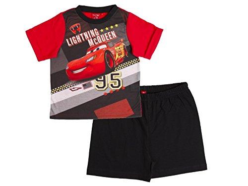 disney-pigiama-due-pezzi-maniche-corte-ragazzo-red-black-lightning-mcqueen-15-2-anni