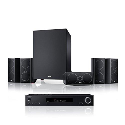 Teufel Consono 35 AVR 5.1-Set Schwarz/Schwarz Heimkino Lautsprecher 5.1 Soundanlage Kino Raumklang Surround Subwoofer Movie High-End HiFi Speaker