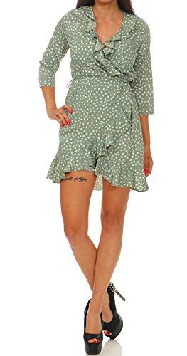 VERO MODA Damen Kleid Henna 10199189 chinois green XL