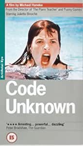 Code Unknown [VHS] [2001]
