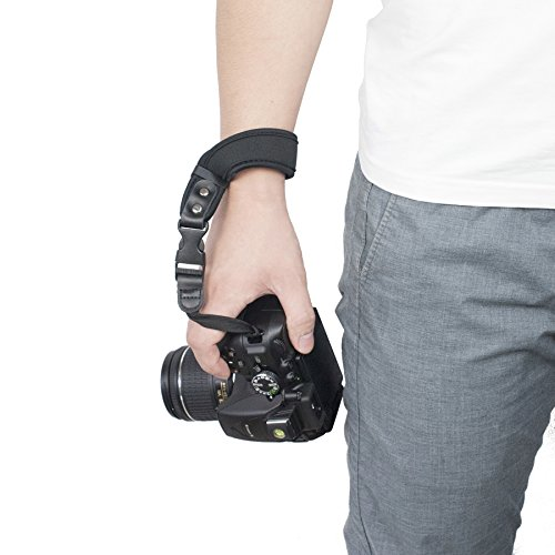 dslr tragegurt Sugelary Kamera Handschlaufe Neopren Kamera Handgelenkschlaufe Trageschlaufe für Canon Nikon Sony Fujifilm Olympus DSLR SLR (ST-1)