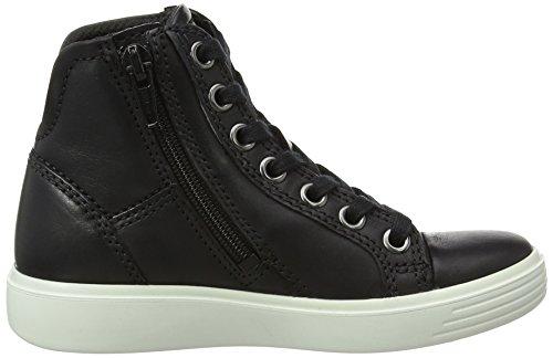 Ecco S7 Teen, Sneakers Hautes Garçon Noir (2001Black)