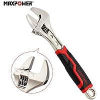 Llave Ajustable MAXPOWER Llave Inglesa 8 Pulgadas 200 mm Llave Inglesa Pequeña Apertura Extra Ancha Llave Inglesa Ajustable con Empuñadura de PVC