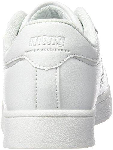 MTNG Attitude (MTNG8) 69783 - Scarpe da Ginnastica Basse da Donna Bianco (Action Pu White/Piedras Silver)