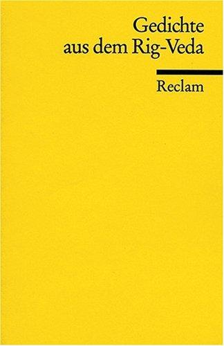 Gedichte aus dem Rig-Veda. par Friedrich Wilhelm Joseph Schelling