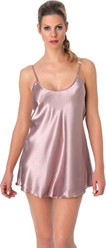stylenmore - Chemise de nuit - Trapèze - Uni - Femme Rose - Rose quartz