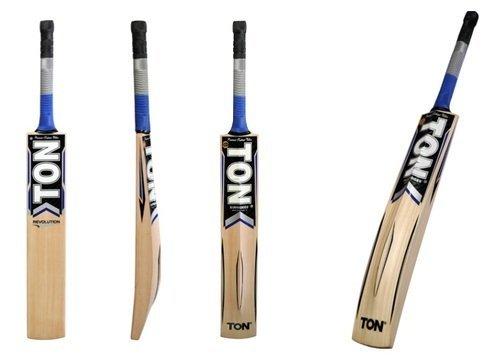 S+S SS Tonnen Revolution Cricket Bat Kaschmir Weide Kurzer Griff von Sunridges mit gratis SS Sunridges Bat Cover-Bat geeignet für Spielen mit Leder Ball, normal Kork Ball oder schwere Tennis Ball