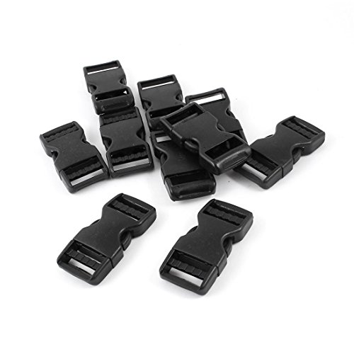 sourcing map Hard Plastic Backpack Quick Release Buckle 10 Parts Black