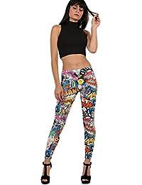 PILOT® Phoebie smiley leggings imprimés de bande dessinée dans la couleur multi