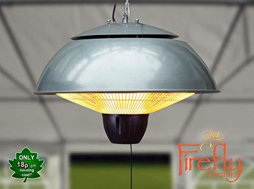 Firefly 1.500 Watt Infrarot-Heizstrahler (Halogen) Terrassenheizung, Deckenmontage, silber - 2