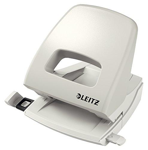 Leitz 50050085 Locher (25 Blatt, Anschlagschiene mit Formatvorgaben, Metall, NeXXt) grau