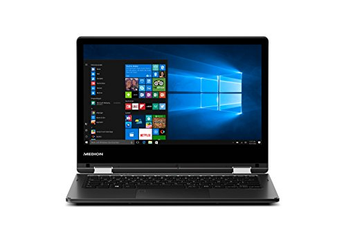 Medion Akoya E2227T MD 60713 29,5 cm (11,6 Zoll HD Display) Convertible Touch-Notebook (Intel Atom x5-Z8300, 4GB RAM, 64GB Flash-Speicher, Intel HD-Grafik, Office 365 Personal, Win 10 Home) schwarz