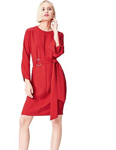 Find. fp00947.2.1 vestito da sera donna, rosso (sports red), 46 (taglia produttore: large)