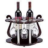 Wine Rack- Europäische Feste hölzerne Wein-Zahnstange, Retro- hölzerner Wein-Gestell-kreativer Wein-Zahnstange gedrehtes Wein-Glas-Gestell