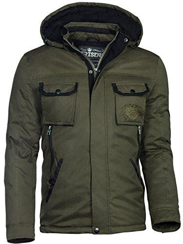 TRISENS HERREN WINTER JACKE MILITARY STYLE WASSERDICHT PARKA ARMY MANTEL, Größe:XXL, Farbe:Army Grün Military Style Jacke