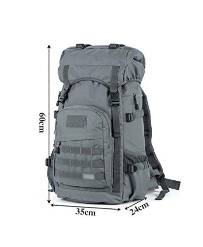 zaino trekking Maschio / Femmina 50L Alpinismo Bag / Tracolla / Viaggi multifunzionale zaino impermeabile esterna Zaini da escursionismo ( Colore : A , dimensioni : 50L-60*35*24cm ) A