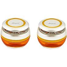 Airpro Luxury Sphere Gel Air Freshener- Citrus Splash Fragrance - Car, Desk, Office, Cabin, Home, Room Air Freshner Perfume Fragrance - Pair(Set of 2 Pcs)