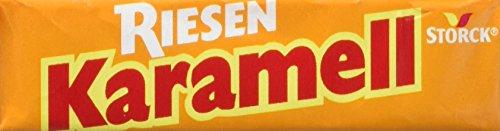 RIESEN Karamell-Riesen - Aromatische Karamell Bonbons mit Biss - Kaubonbonsgroßpackung für die ganze Familie - (80 x 29g Packung)