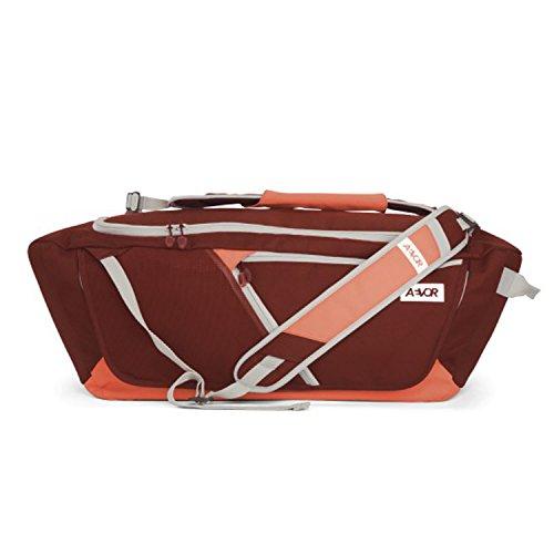 AEVOR Duffle Bag Sporttasche tragbar als Rucksack für Sport und Freizeit erweiterbar auf 53 Liter Red Dusk - korall, Burgund