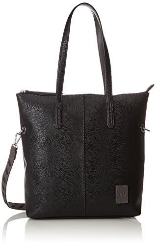 TOM TAILOR Denim Damen Anna Tote, (Schwarz), 13x35x34 cm - Denim Tote Bag Handtasche