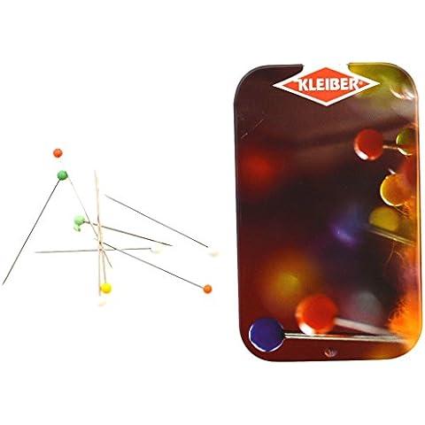 Kleiber - Alfileres con cabeza de vidrio, multicolores