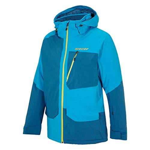 Ziener Herren Skijacke Talia Man Teamwear DERMIZAX blau 230953 GR.50 neu