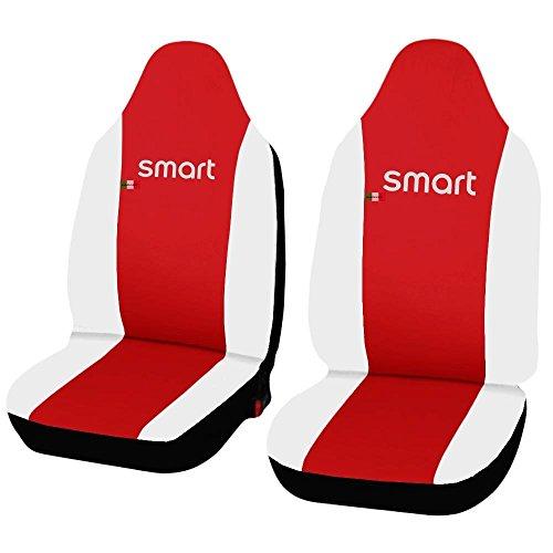 Lupex Shop smart.2S.EC R. Bi Sitzbezüge Auto aus Kunstleder rot weiß