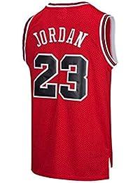 best sneakers 6fe10 e842b BeKing NBA Jersey Michael Jordan   23 Chicago Bulls Maillot de Basketball  Homme Rétro Gilet de Gym T-Shirt de…