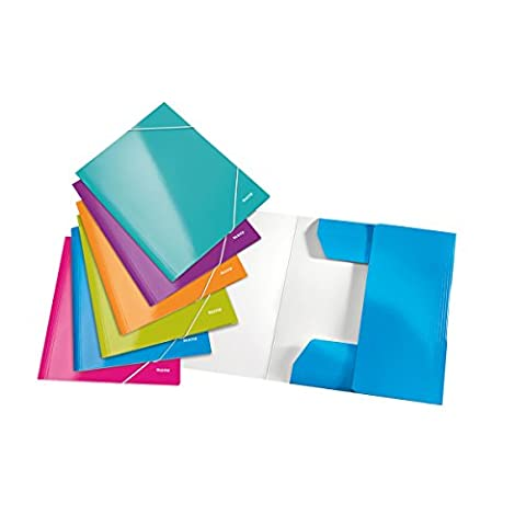 Leitz Wow A4 Flap Folder - Assorted Colours, Pack of