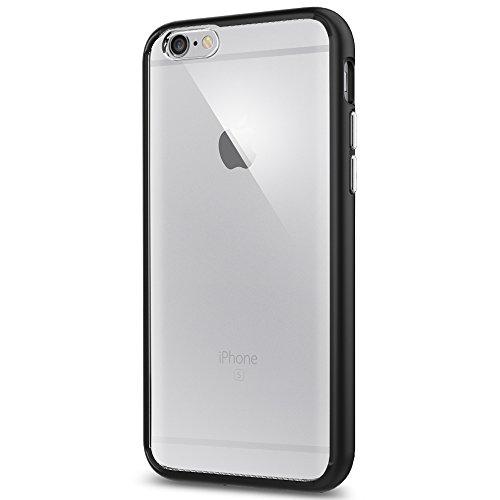 iPhone 6 / 6S Case, Spigen® [Ultra Hybrid] [Black] **NEW** [AIR CUSHION Technology] Premium Bumper Protection TPU Case, Anti-Scratch PC Clear back + Shockproof TPU bumper, slim thin clear cover for iPhone 6 / 6S (SGP11600)