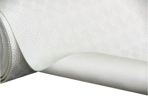 Tischpolster Tischdeckenunterlage Tischschoner Meterware weiß in 138cm breit