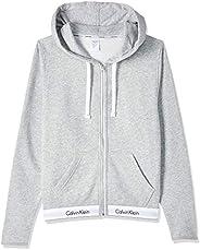 Calvin Klein Women's Top Hoodie Full Zip Knits, Grey (Grey Heather 020), Me