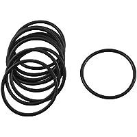 10 Stücke schwarz Gummi O Ring Öl Dichtung Dichtschiebe 24mm x 21mm x 1.5mm