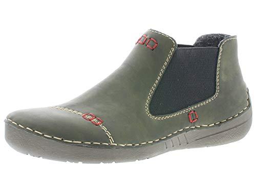 Rieker Damen Stiefeletten 52590, Frauen Chelsea Boots, Stiefel halbstiefel Bootie Schlupfstiefel gefüttert Damen Frauen,Forest,36 EU / 3.5 UK
