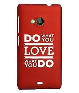 KolorEdge Back Cover For Microsoft Lumia 535 - Red (2316-Ke15087Lumia535Red3D)