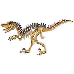 3D Wooden Velociraptor Prehistoric Dinosaur Jigsaw Puzzle Craft Modelling Kit by Legler