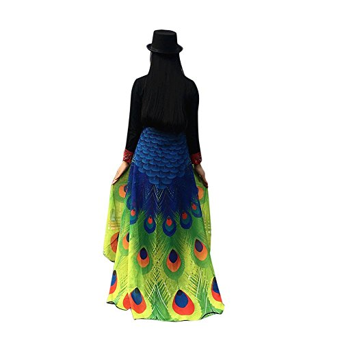 Schmetterlingsflügel Fee Damen Nymph Pixie Kostüm Zubehör Party Cosplay (197 x 125CM, D-Grün) (Eisbär Kostüm Für Hund)