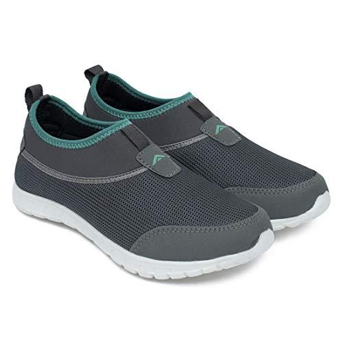 ASIAN Riya-51 Grey Green Sports Shoes,Walking Shoes,Running Shoes,Gym Shoes for Women UK-7
