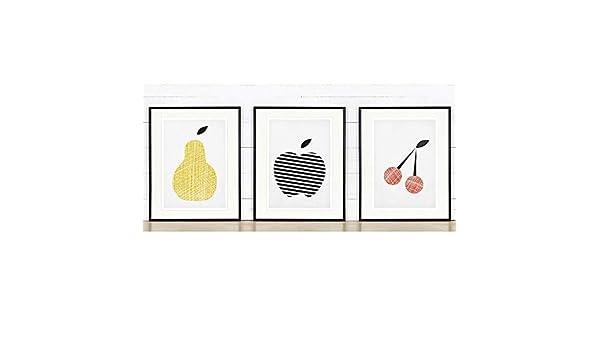 K/üche Poster K/üche deko minimalistischer Stil Birne Obst skandinavischer Stil, Gelb K/üchenplakat